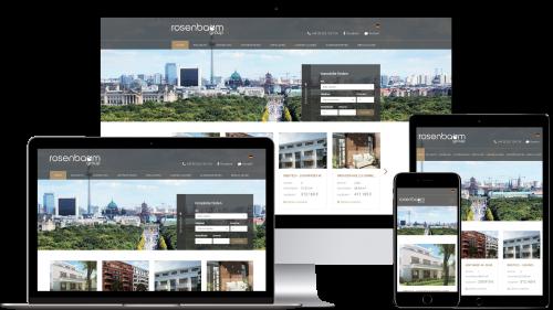 Beispiel einer Homepage im Responsive Webdesign