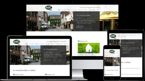 Homepage von HIC Immobilien