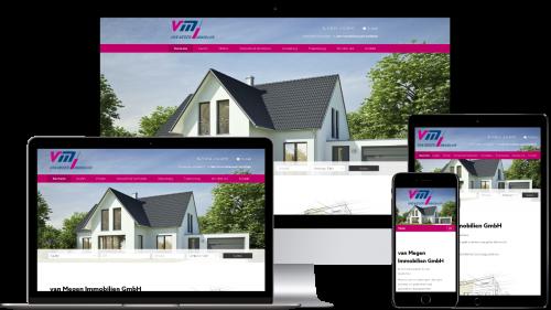 Homepage von van Megen Immobilien GmbH
